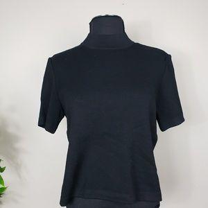 St John Collection mock neck short sleeve